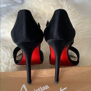 Christian Louboutin Shoes - Christian Louboutin black satin Palace heels (39)